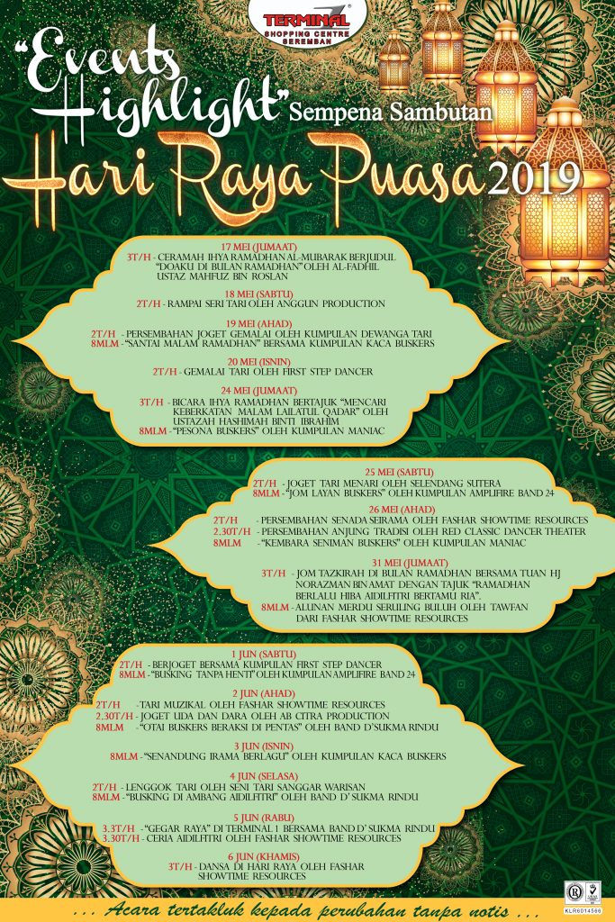 Hari Raya Puasa Events Highlight for 2019