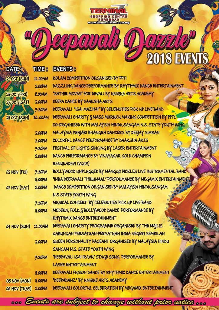 Deepavali Events Highlight for 2018